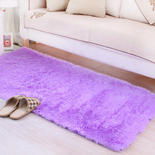 Unikea 50*100/120/160CM Soft Big Carpets for Bedroom strip Bedside/strip/non-slip White/brown/green/pink/gray(China)