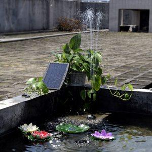 Image 5 - Güneş enerjisi paneli peyzaj havuzu bahçe çeşmeleri takılabilir güneş enerjisi dekoratif çeşme 9V 2.5W su pompası