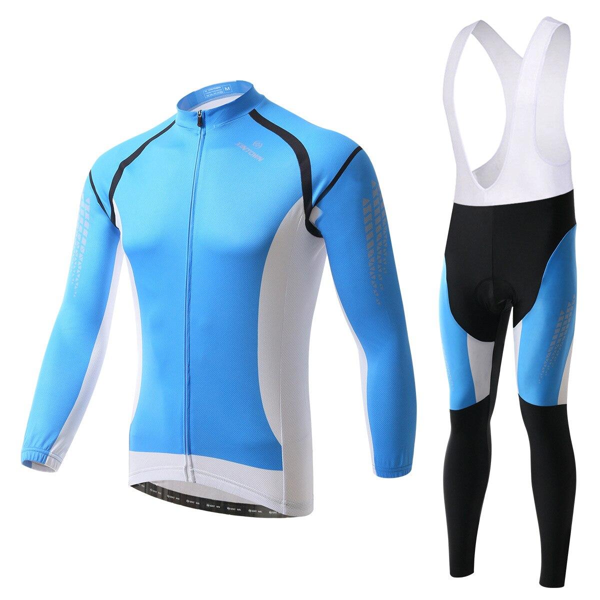 XINTOWN Kuanglan bike riding jersey gear strap long-sleeved suit wear bicycle suits fleece wind warm functional underwear