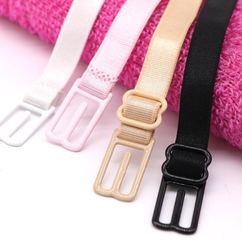 5PcsSexy Double-shoulder Strap Slip-resistant Belt Buckle Non Slip Buckle Shoulder Strap With Back Hasp Non-slip Straps For Bra