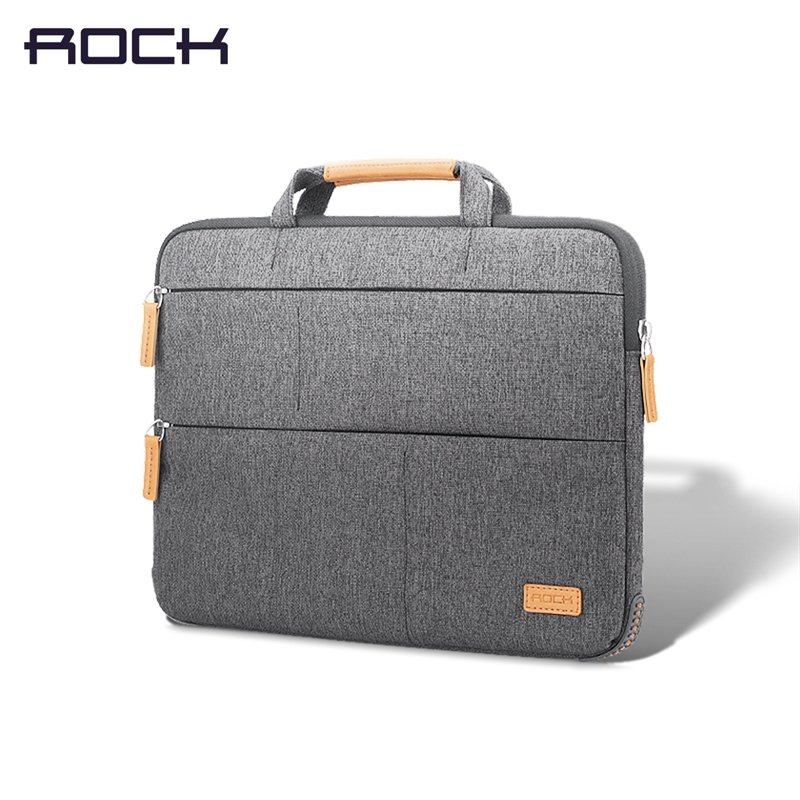 ROCK 13 inch Notebook Laptop Sleeve Bag,Pouch Case For Acer Dell HP Asus for Lenovo Macbook Pro Reitina Air for Xiaomi laptop stand with detachable 4 ports usb hub 14 to 19 inch notebook holder computer bracket for macbook air pro dell asus lenovo