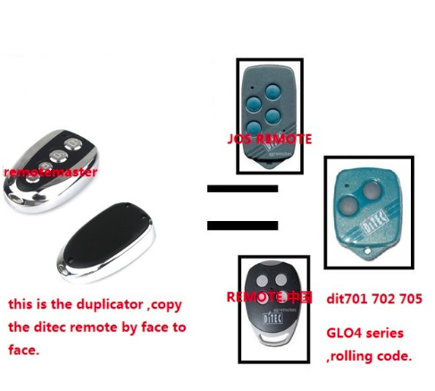 DITEC GOL4 433mhz roling code garage door replacement Remote Control