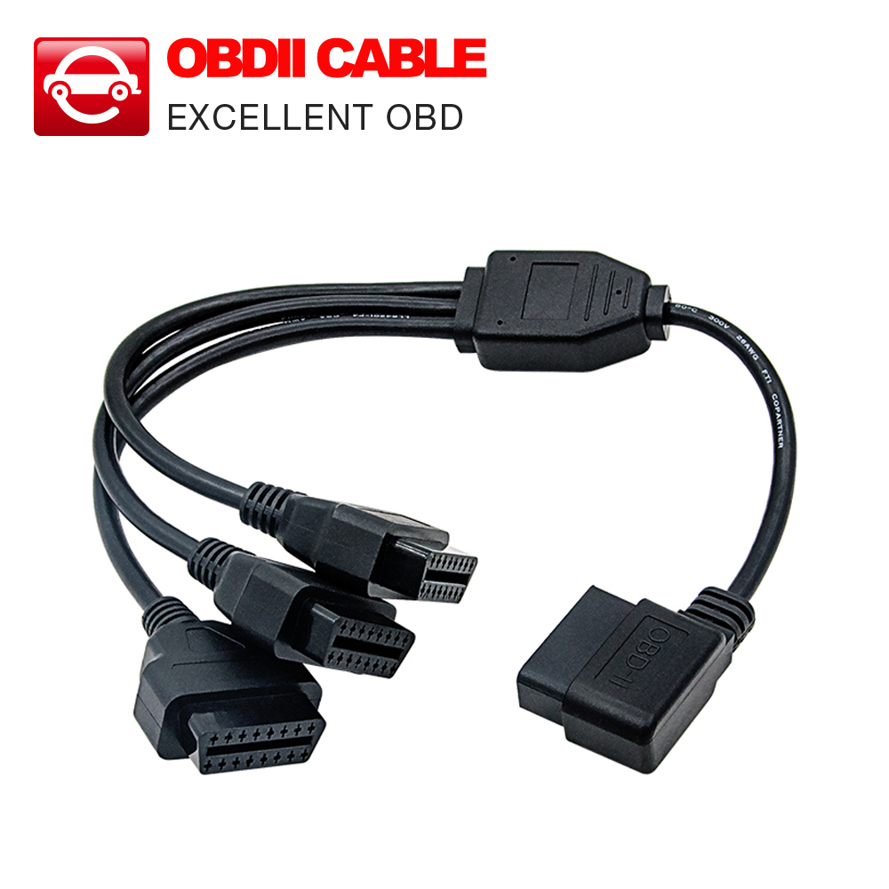 Prix pour 50 cm Convertisseur Adaptateur OBD2 splitter Y Câble J1962M à 3-J1962F splitter OBD2 Câble 1 à 3 livraison gratuite