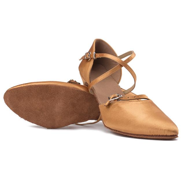 Modern shoes Professional Satin Latin Dancing Shoes Ballroom Tango Dancing Shoes
