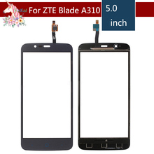 5.0 For ZTE Blade A310 LCD Touch Screen Digitizer Sensor Outer Glass Lens Panel Replacement 4 0 for zte blade l110 lcd touch screen digitizer sensor outer glass lens panel replacement