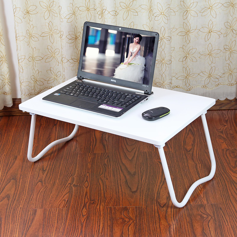Solid notebook computer desk bed table folding small lazy