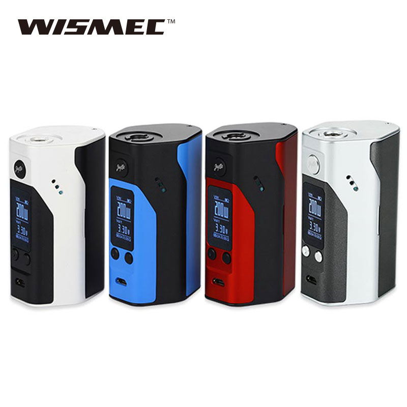 100% Originale Wismec Reuleaux RX200S TC Mod 200 W powered by 3x18650 batterie Schermo OLED Scatola Vape Mod Rx200S vs alien Mod 220 W