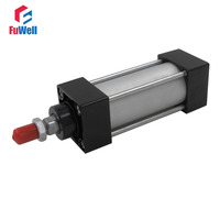 SC Pneumatic Cylinder 63mm Bore 25/50/75/100/125/175mm Stroke Aluminum Alloy Single Rod Double Acting Air Cylinder