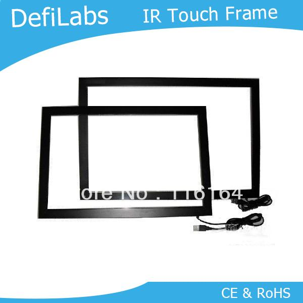"DefiLabs , 46"" IR Touch Screen Frame with High Sensitivity /  2 touch points, stable, no-drift calibration performance"