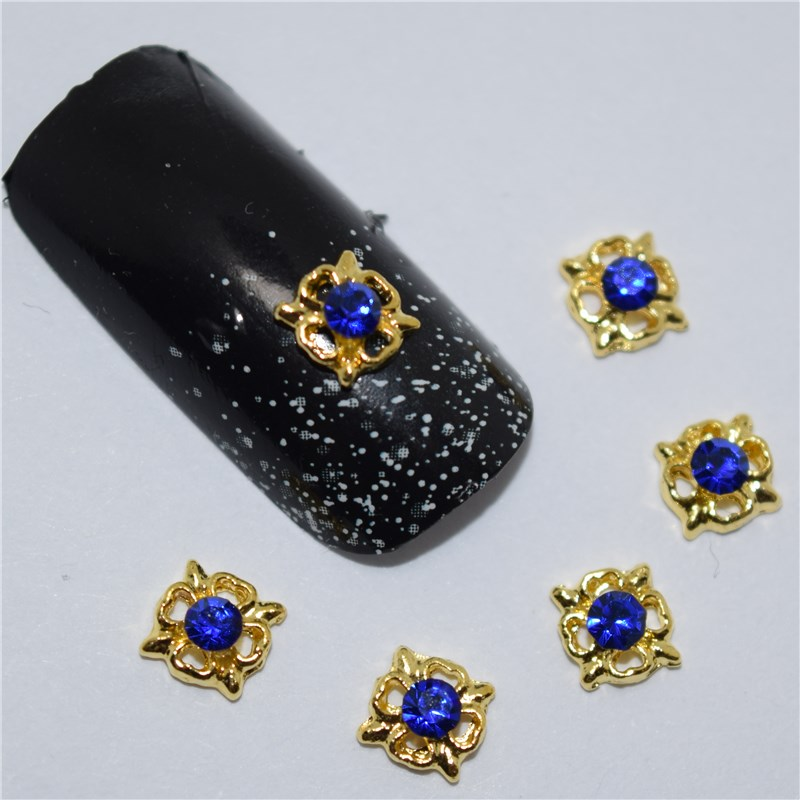 10pcs 3d nail jewelry decoration nails art glitter rhinestone for manicure Blue gem design nail accessories tools #170 100pcs 6 color choices resin flowers nail art decoration diy charm 3d unha nails accessories bl59