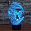 Novelty LED Night Light Color Changing 3D Coral Fish Shape Table Desk Lamp for Baby Children Bedroom Decoration Lamp Lighting