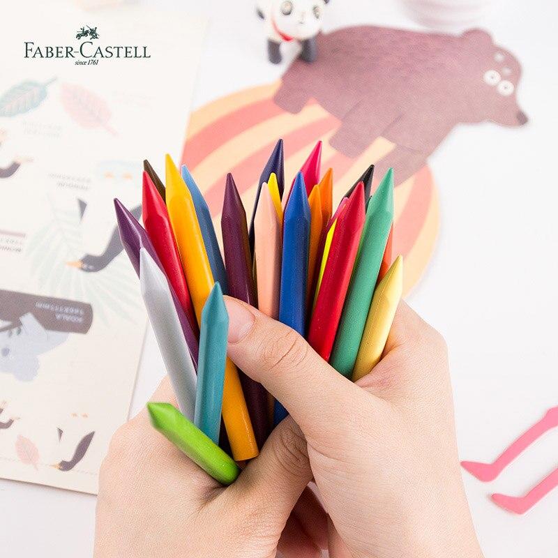 Faber Castell 12 Triangular De Cera Lápices De Colores 120010