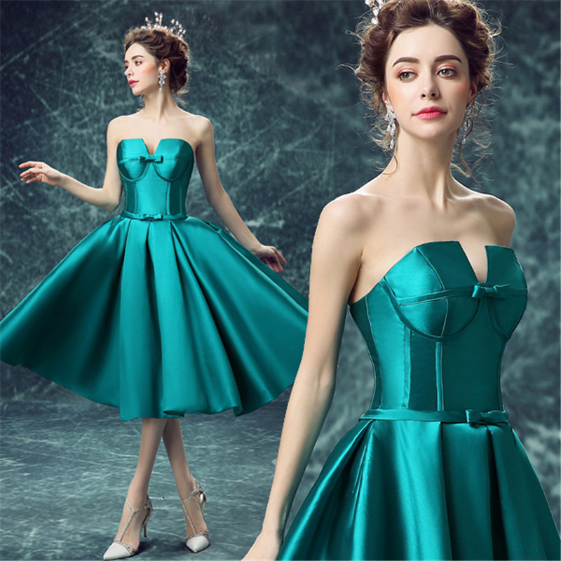 Ready 2017 in stock turquoise maid maid of for Turquoise wedding guest dress