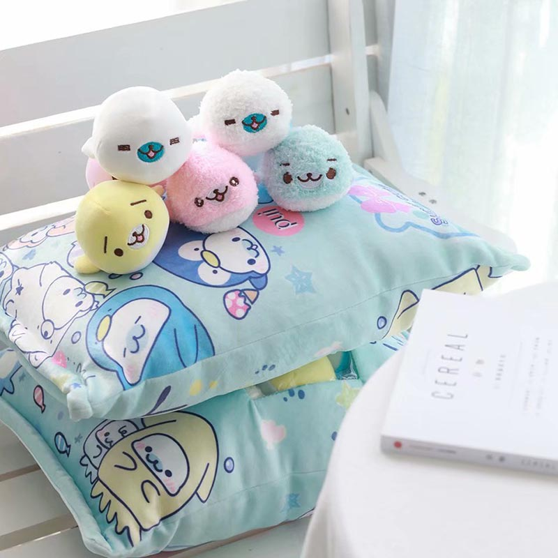 cute plush sea lion toy 8 pcs a bag of small doll pudding plush pillow stuffed soft animal toy for children girls birthday gift