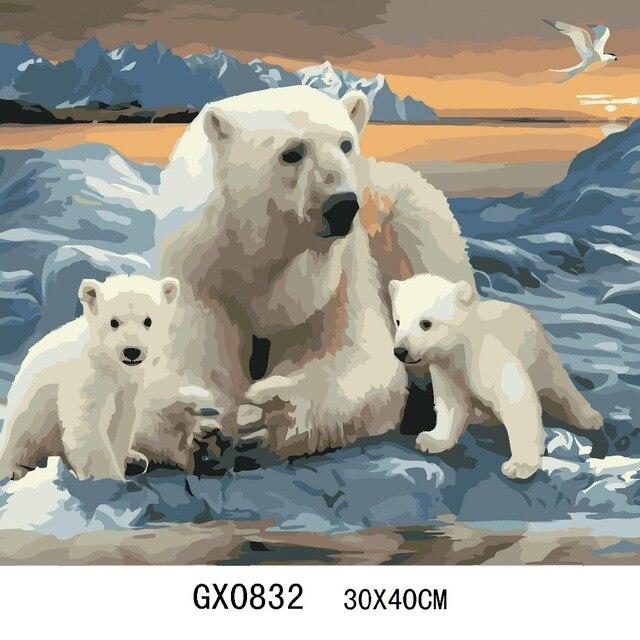 tableau ours blanc voir le produit ours blanc with. Black Bedroom Furniture Sets. Home Design Ideas
