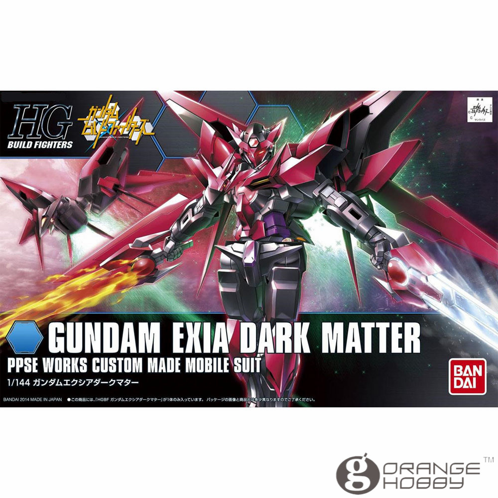 OHS Bandai HG Build Fighters 013 1/144 Gundam Exia Dark Matter Mobile Suit Assembly Model Kits
