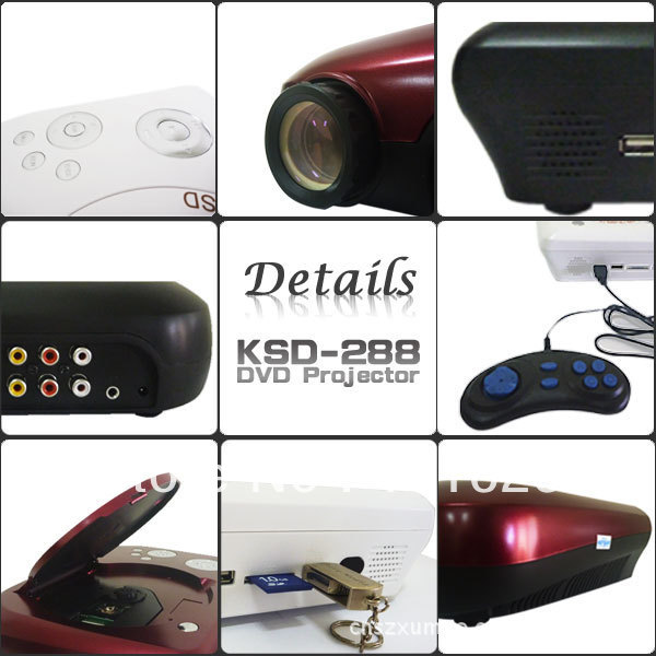 7500lm Hd Home Theater Multimedia Lcd Led Projector 1080: KSD 288 HD DVD Projector BEST NEW HD Home Theater