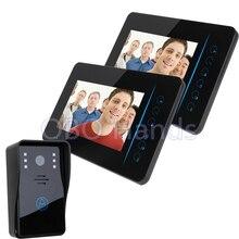 7 Wireless Color Video font b door b font phone Intercom video doorbell kit IR system