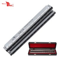 Swan Professional Senior 48 Chord Harmonica Orchestral Harp 24 suit of Compact Chord Mouth Organ SW48HX Free Shipping