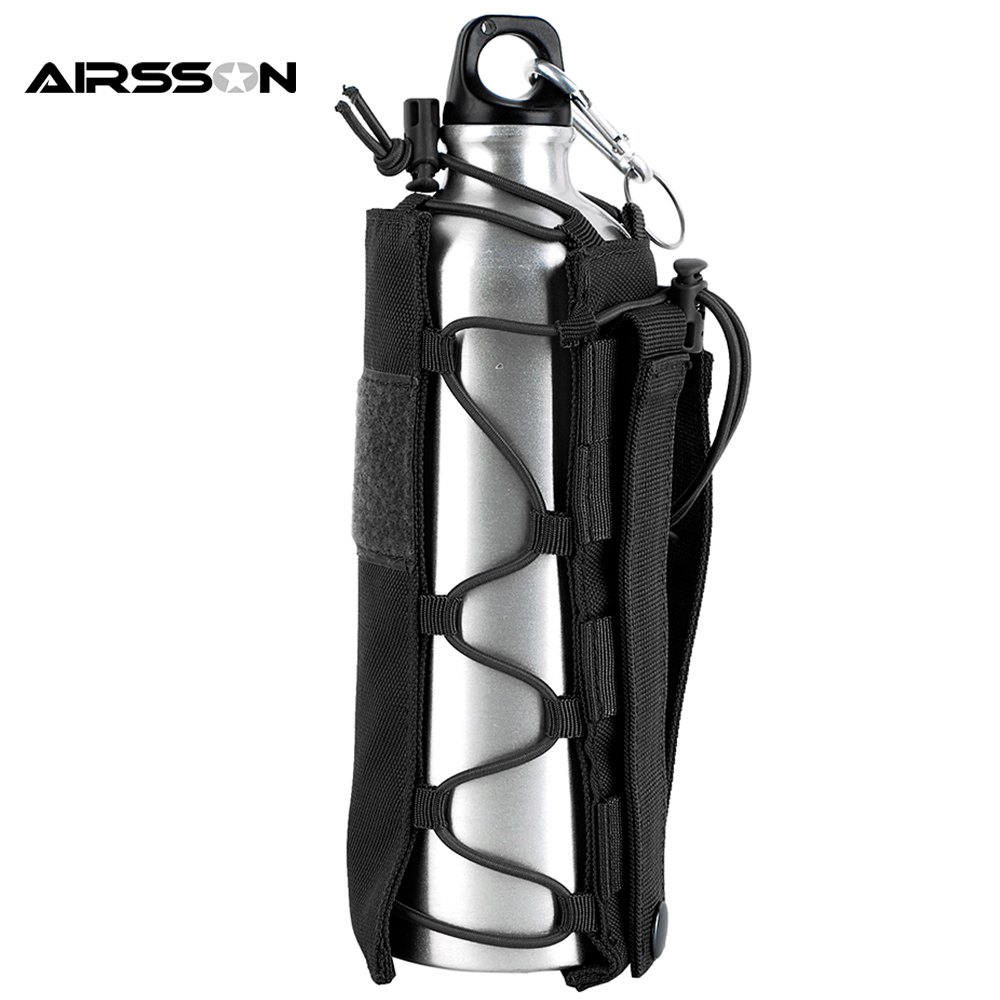 Tactical Molle Water Bottle Pouch 1050D Nylon Military Canteen Cover Holster Outdoor Hiking Camping Travel Kettle Bag 0.5L-2L стоимость