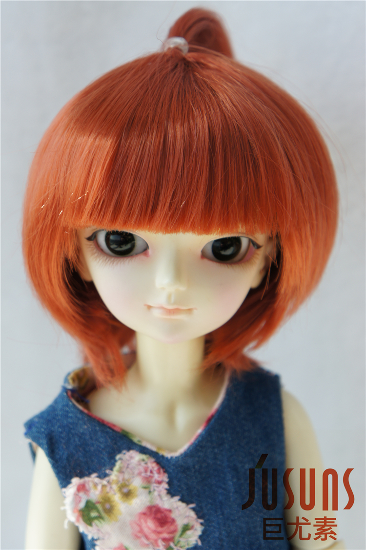 1/6 Doll wigs 6-7inch Synthetic mohair BJD wig   Lait green Resin doll accessories YOSD doll hair