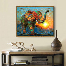 5d Diy Diamond Painting Elephant diamond painting full square Cross Stitch mosai Decoration Home New