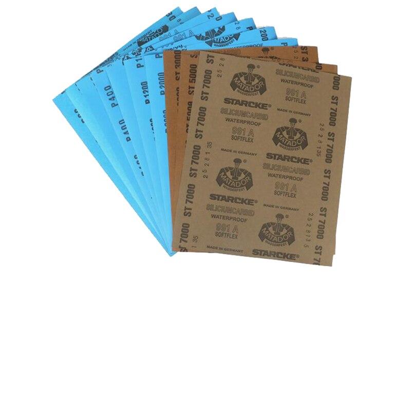 3 Paper Per Lot Sandpaper Ultrafine Sanding Paper Water/dry Stone/knife/leather/wood Polishing