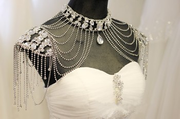 Handmade Bridal Shoulder Necklace5