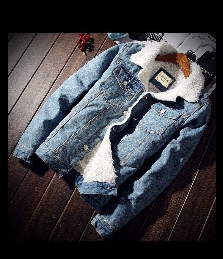 HTB1d3BuXifrK1RjSspbq6A4pFXad Men Jacket and Coat Trendy Warm Fleece Thick Denim Jacket 2019 Winter Fashion Mens Jean Jacket Outwear Male Cowboy Plus Size 6XL