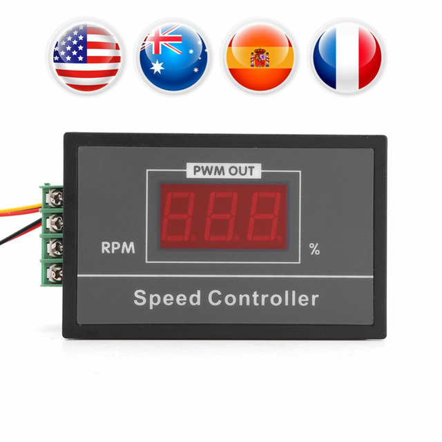 1 PC DC Motor Speed Controller Max Output Current 30A Adjustable Motor Controller DC 6-60V 30A Motor Governor Speed Regulator