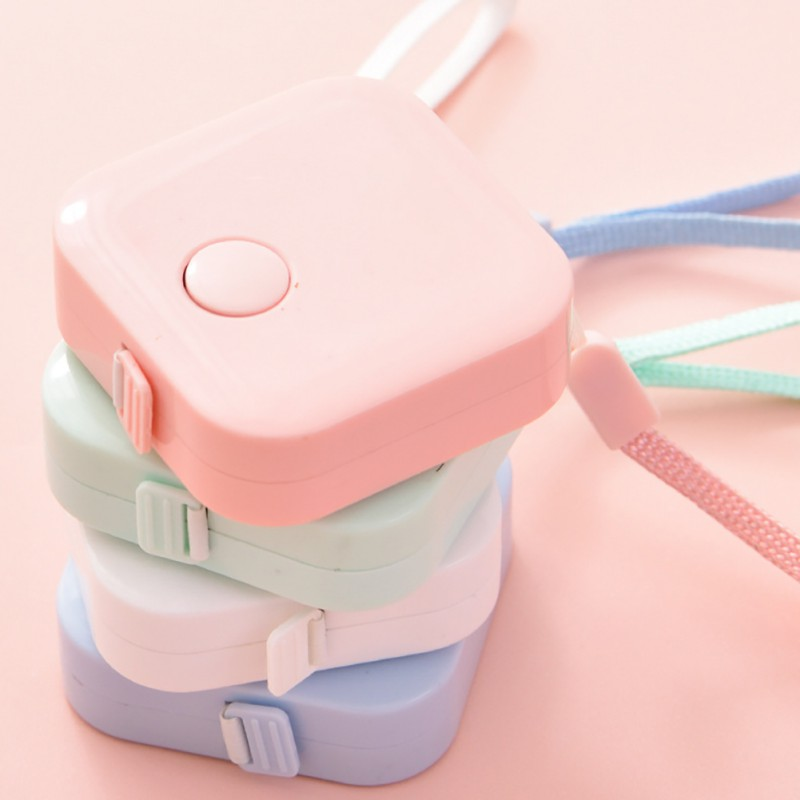 1.5m Kawaii Accessories Retractable Ruler Centimeter/Inch Tape Measure Mini Rulers Colorful Cute Design Great For Travel Camping