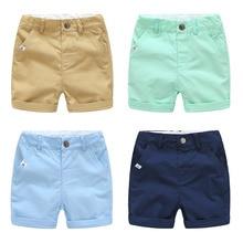 Лето, европейский стиль, для детей 2, 3, 4, 5, 6, 7, 8, От 9 до 10 лет, хлопковые спортивные однотонные шорты на завязках для маленьких мальчиков