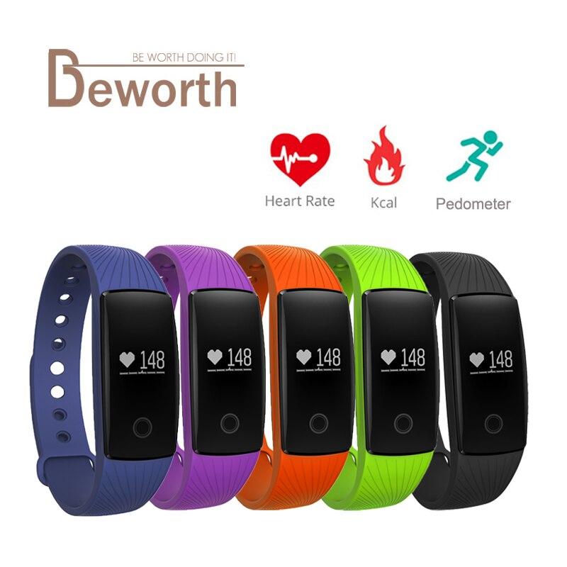 imágenes para Banda inteligente Pulsera Bluetooth Monitor de Ritmo Cardíaco Reloj Pulsera Smartband Gimnasio Deportes Muñequera PK ID107 Fitbits Mi Banda 2