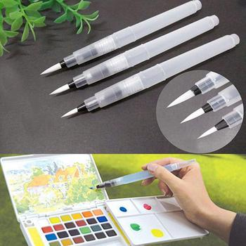 цена на 3PCS/set Soft Brush Pen Ink Water Color Calligraphy for Beginner Painting Reusable S M L Pen Writing Pen And Tool Watercolor