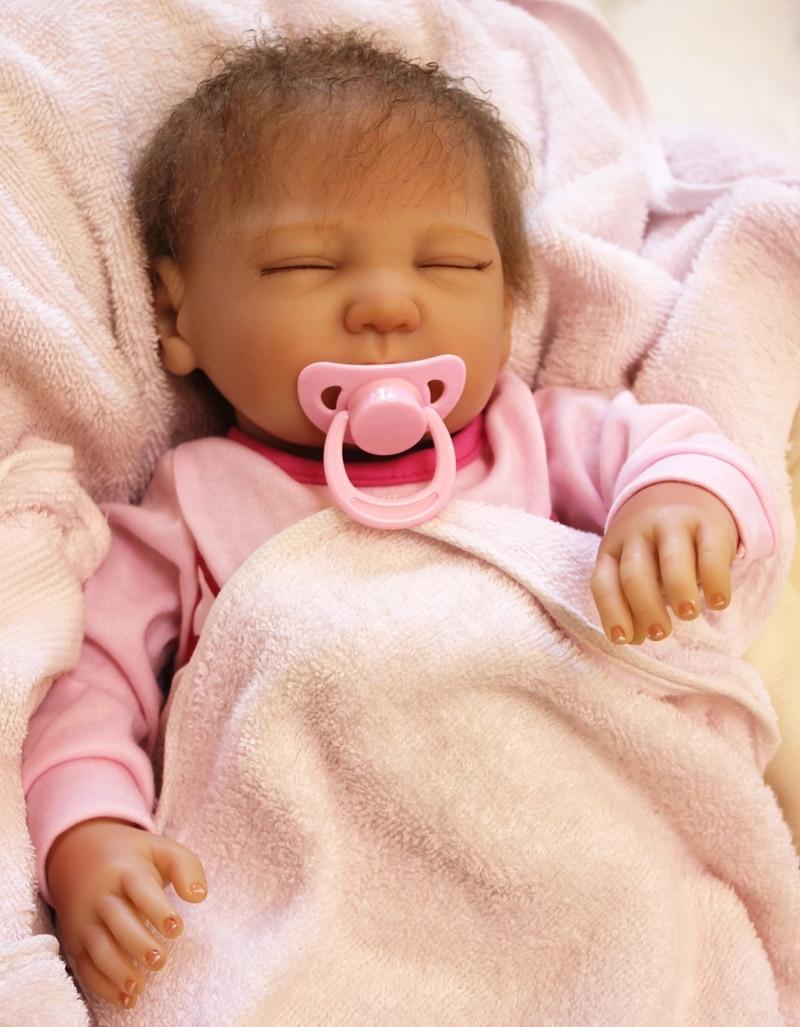 50cm Silicone Reborn Baby Sleeping Doll Toy Realistic Cute Newborn Girl Babies Princess Dolls Fashion Kids Birthday Gift Present