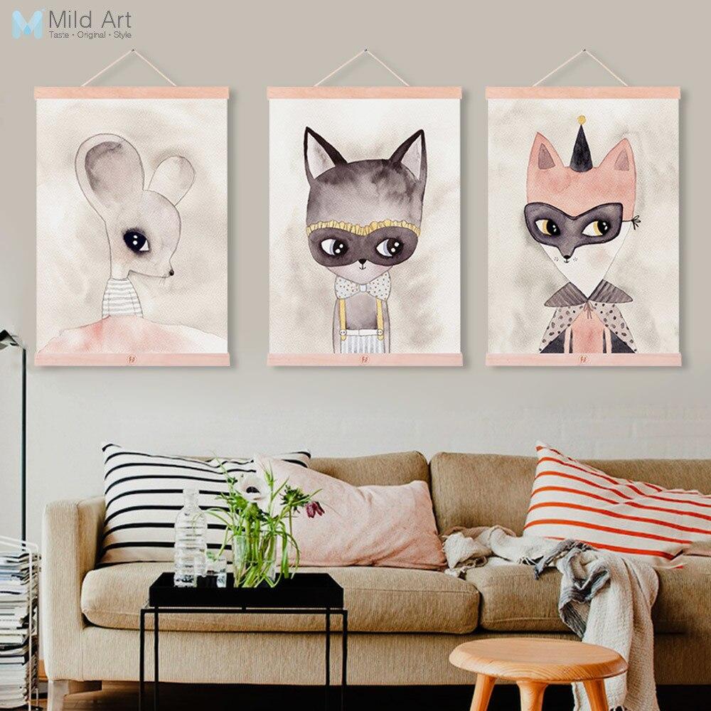 Aliexpress.com : Buy Moder Cute Animals Cat Fox Wooden
