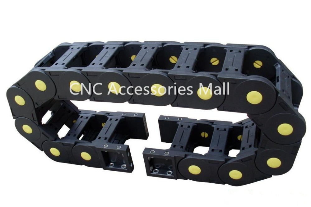 1 meter 80*200/80*250 Towline Enhanced Bridge-type Drag Chain with End Connectors for CNC Router Machine Tools