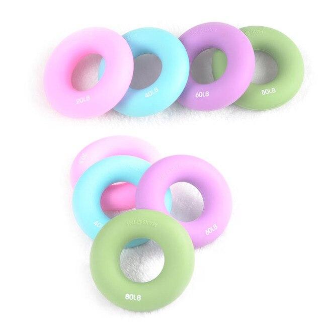 Silica gel Portable hand Grip Gripping ring Carpal expander 20-80 LB 8 cm diameter