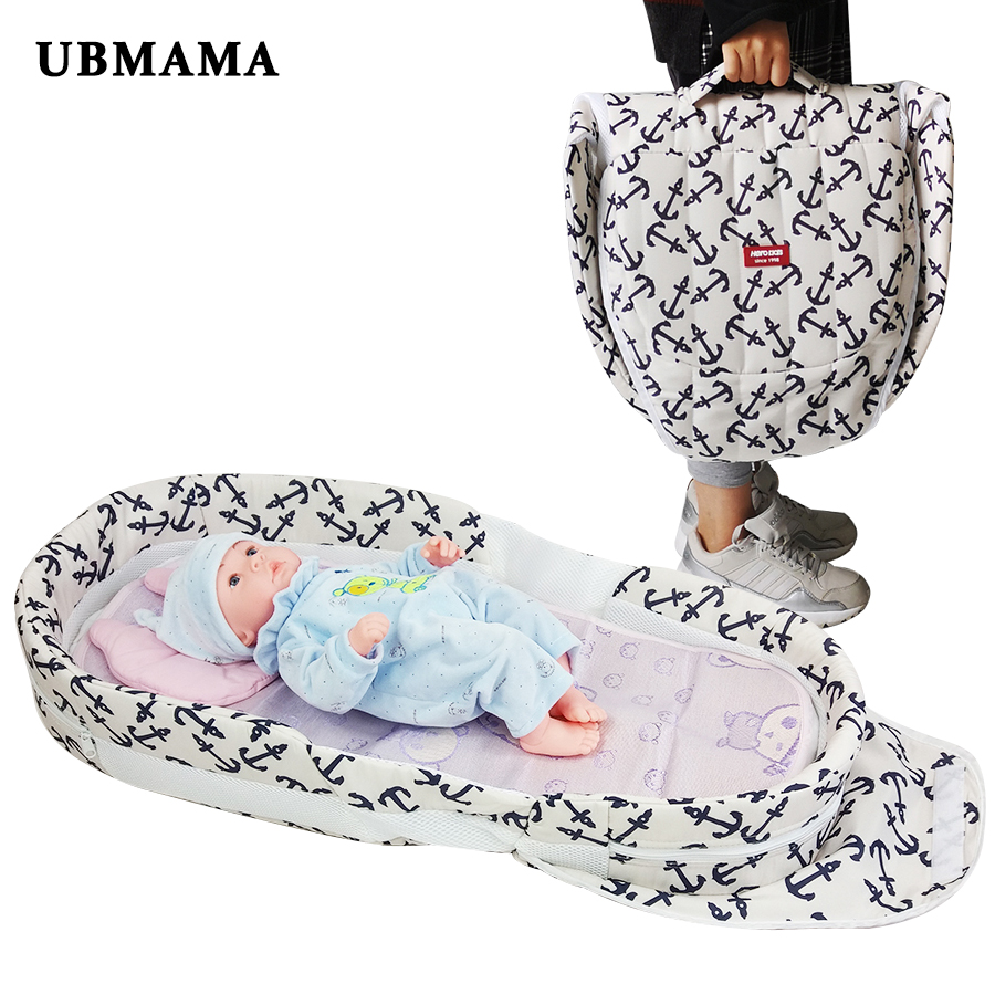 High quality baby bed Panda pattern folding bed thickening change diaper bed portable folding bed for Give pillow and mats high quality multicolore pattern flax pillow case without pillow inner