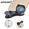 APEXEL Optic 18MM Wide Angle universal Phone Camera Lens for iPhone 6S/6 plus More Landscape, No Distortion, No Dark Circle