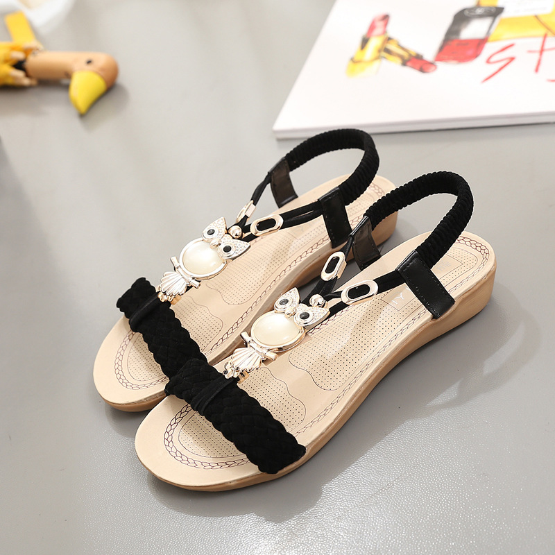 ef5d6fb72b9f6d Women s Sandals Summer Fashion Ankle-Strap Beach Shoes Ladies Flip Flops  Flats Sandale Chaussures Femme