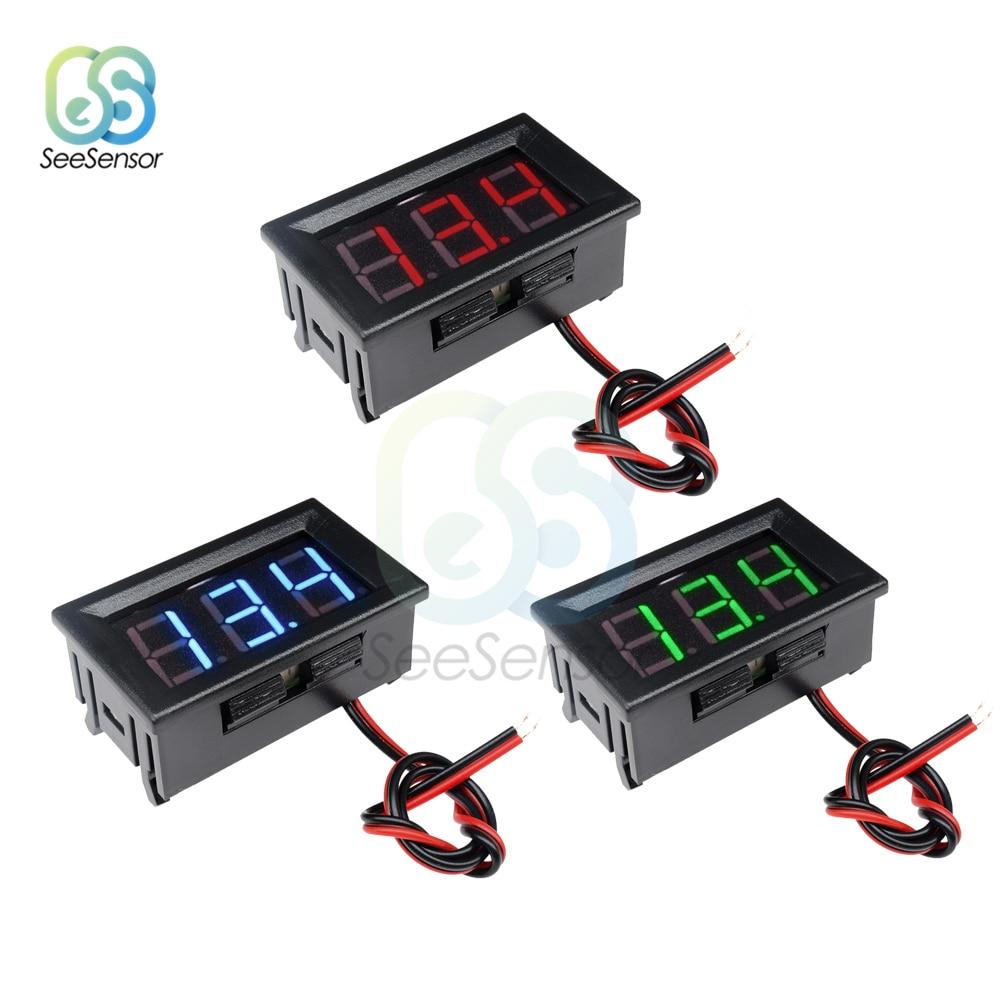 0.36 LED voltmeter 3V to 30V self powered 2 wire