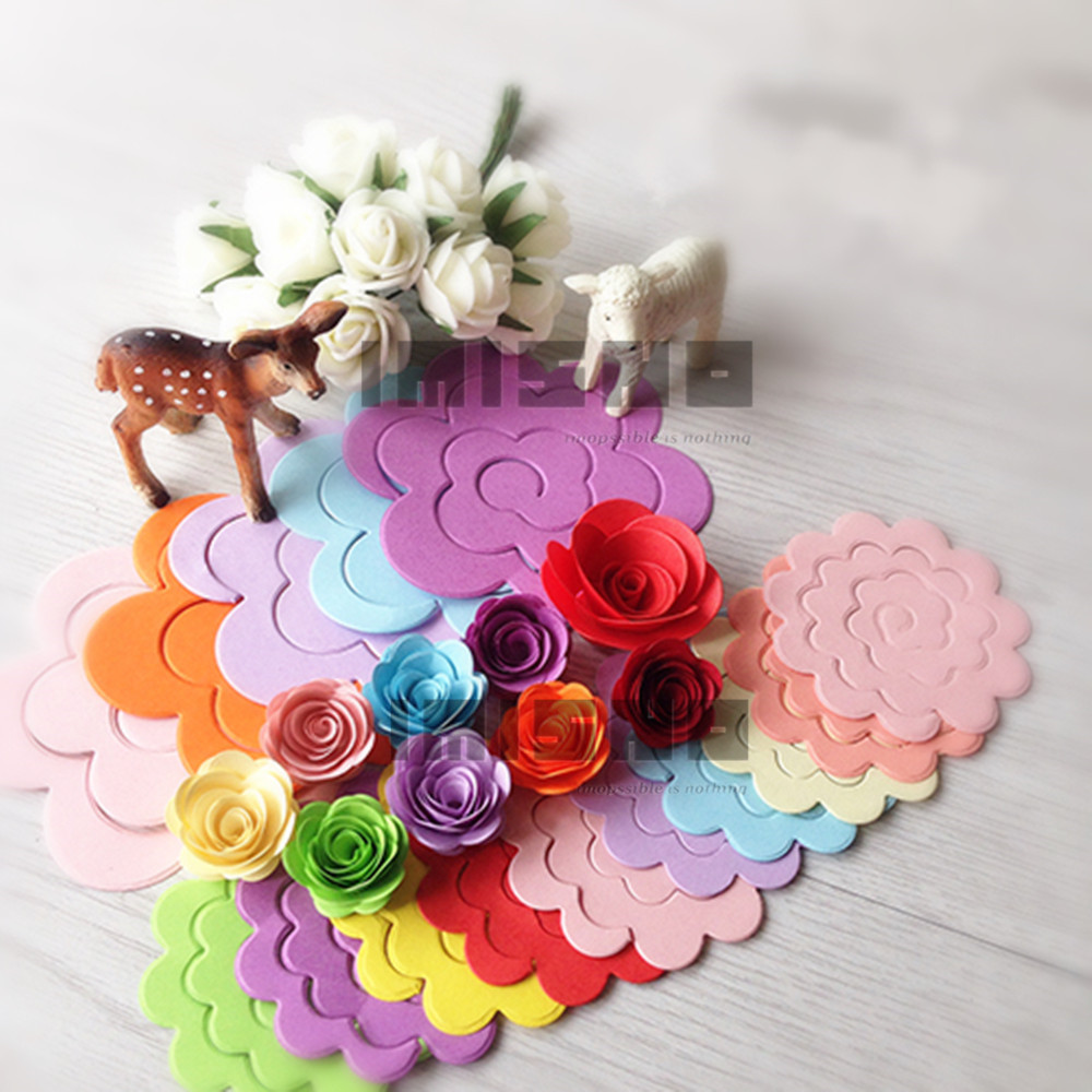 ٩(^‿^)۶3D papel 10 colores flor papel quilling DIY Arco Iris origami ...