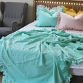 French pure linen princess wind lotus leaf general anesthesia four sets of quilt bed linen bed linen bedding