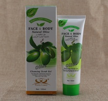 100ml Remove dirt hydrated Olive cleansing scrub gel