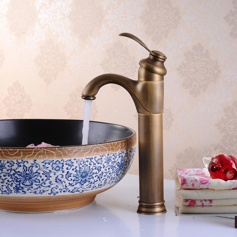 BECOLA livraison gratuite robinet de salle de bain antique bronze mitigeur robinet de lavabo en laiton robinet GZ-7202