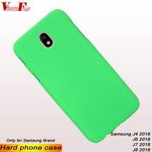 ViewFar Multi Colors Case For Samsung Galaxy J4 J6 J7 J8 2018 Matte Cover J42018 J62018 J72018 J82018 J810 Hard PC Phone Cases