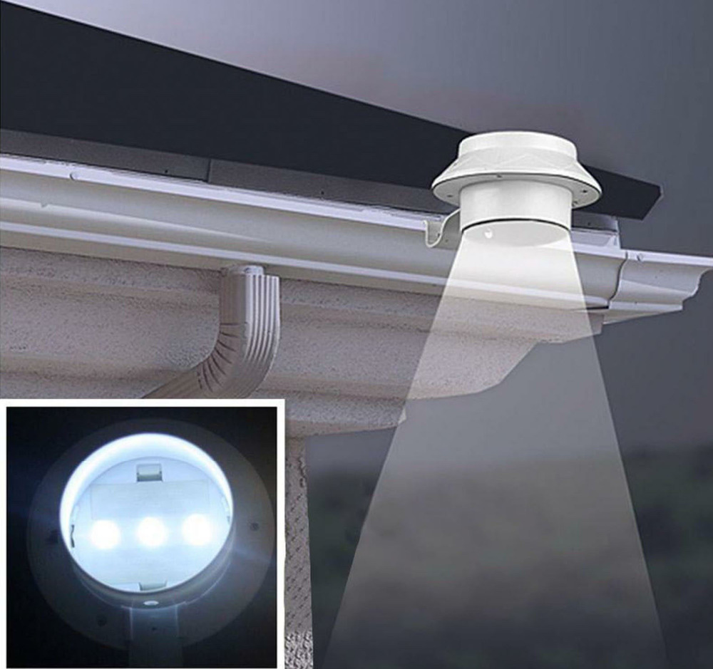 New Hot Sales Outdoor Solar Powered LED Wall Path Landscape Mount Garden Fence Light Lamp P0.55