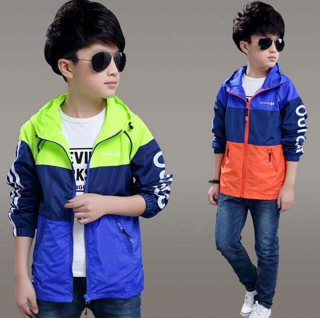Boy's coat in the spring and autumn winter 2016 new 6 cuhk children 7 children 8 ski-wear, 9, 10 and velvet 5 windbreaker jacket