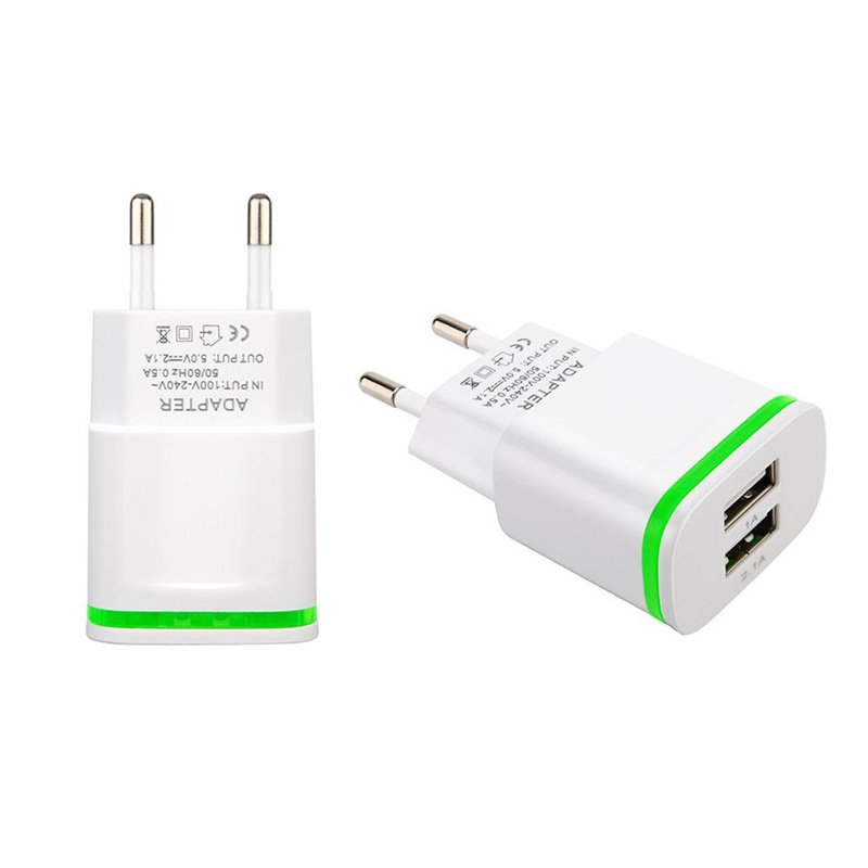 Fast Wall <font><b>Charger</b></font> EU Plug US Adapter 2 USB Quick Travel <font><b>Charger</b></font> For Samsung <font><b>Galaxy</b></font> J3 J5 J7 A3 A5 <font><b>A7</b></font> 2017 2016 Core Grand Prime image